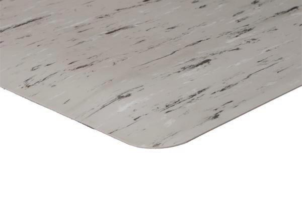 K-Marble Foot Mat Ivory Gray White