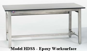 Model HDSS Epoxy Worksurface