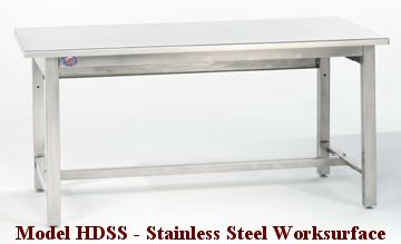 Model HDSS Stainless Steel Worksurface