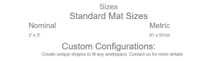 Performa 100N Black Floor Mat Sizes