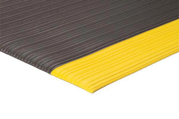 Safety Soft Foot Floor Mat Black Yellow Emboss