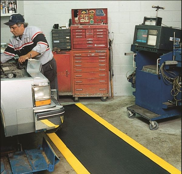 Safety Spun Mat in Auto Shop