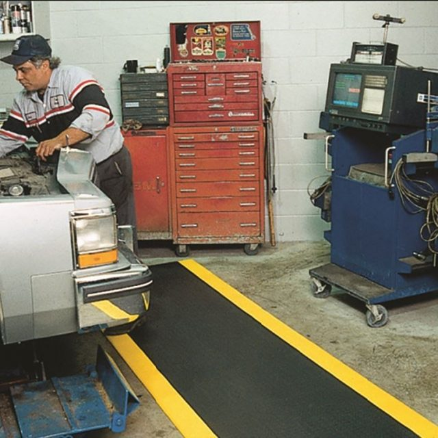 Safety Spun Mat in Auto Shop