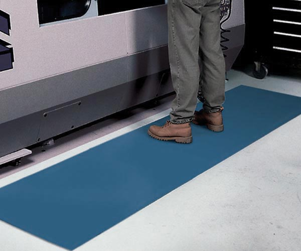 Switchboard Smooth Floor Mat in front of CNC