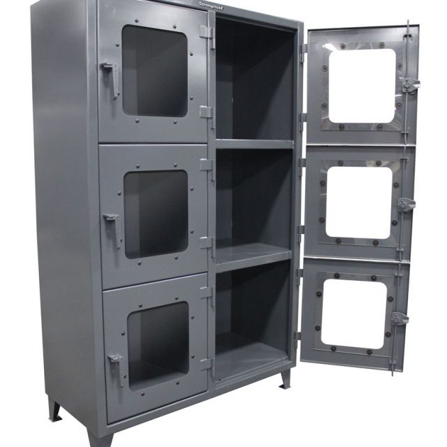 clear view cabinet with 6 compartments