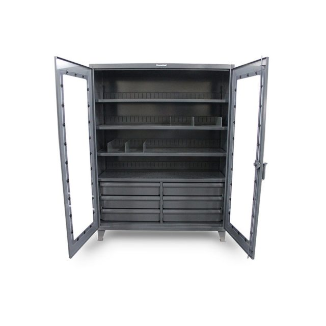 clear view cabinet with 6 drawers and removable vertical dividers