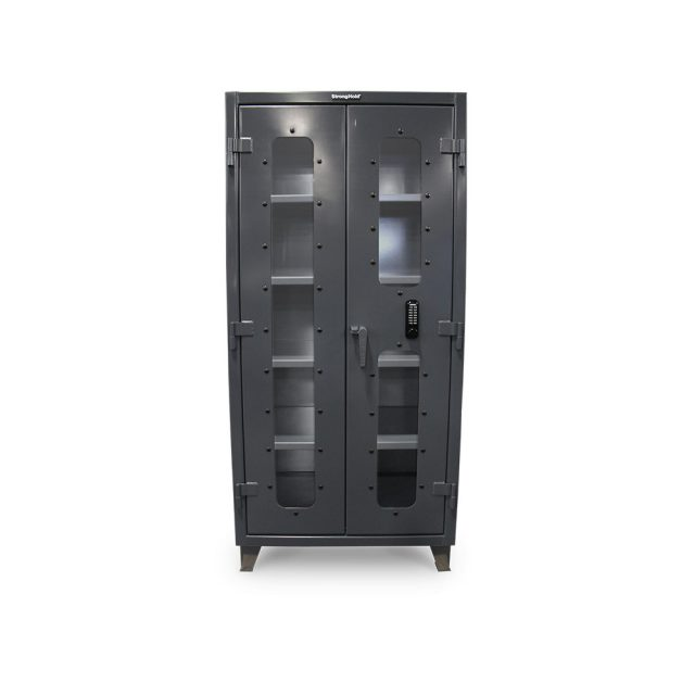 clear view cabinet with keypad