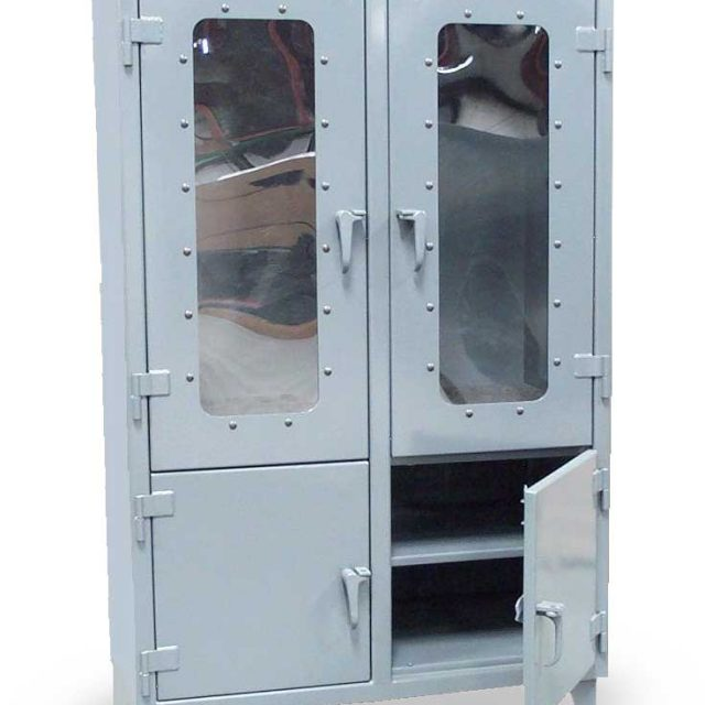 clear view cabinet with lower solid doors