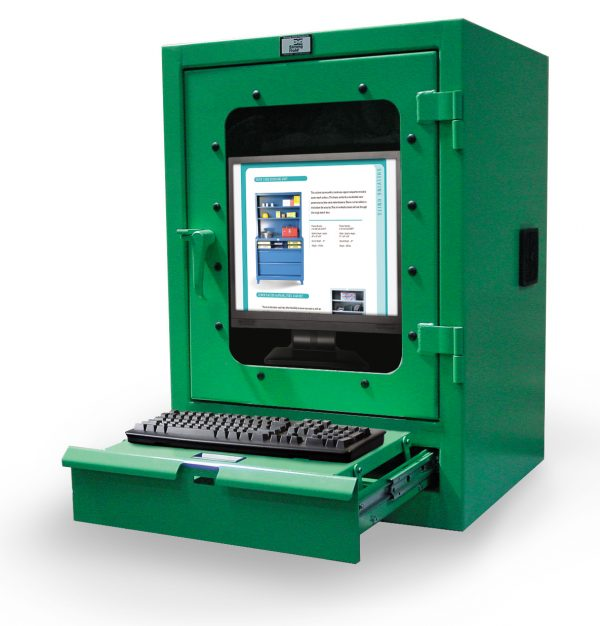 desktop computer cabinet with keyboard drawer