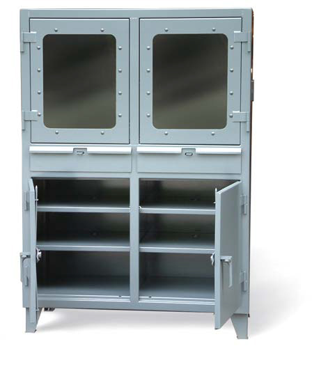 Stronghold double shift industrial computer cabinet
