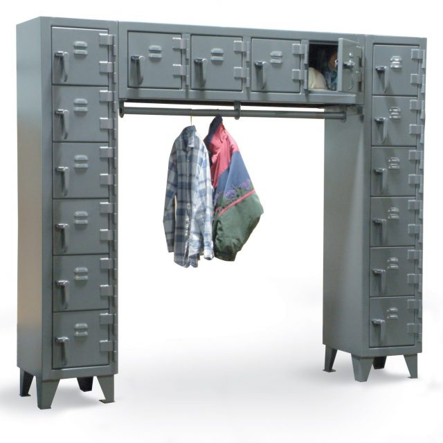 Stronghold free standing compartment locker