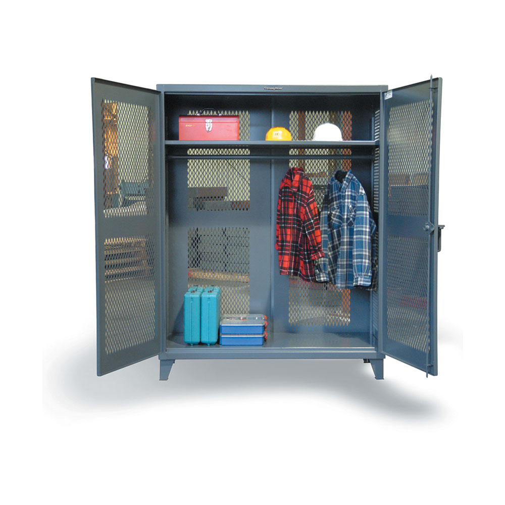 fully ventilated uniform cabinet