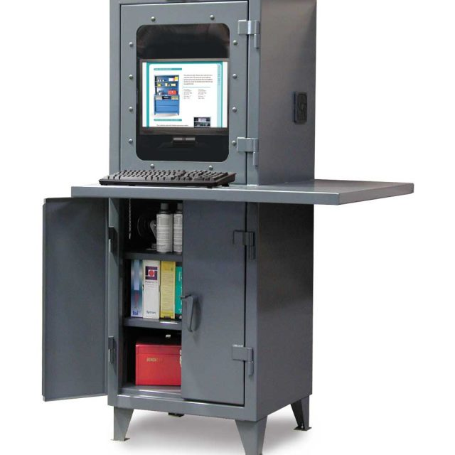 heavy duty computer cabinet workspace