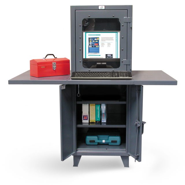 Stronghold industrial computer workstation with welded desk top