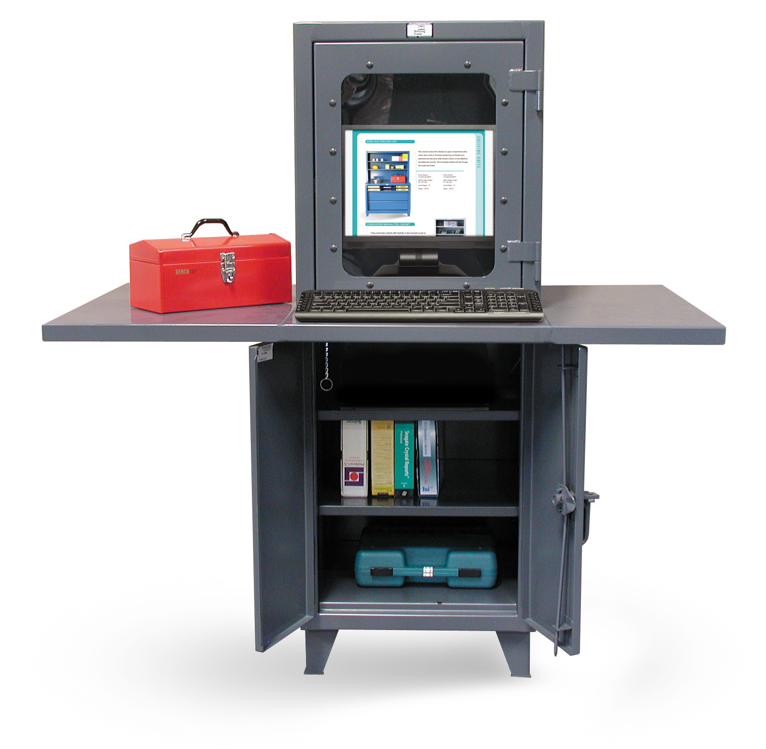 Industrial Computer Workstation With Welded Desk Top