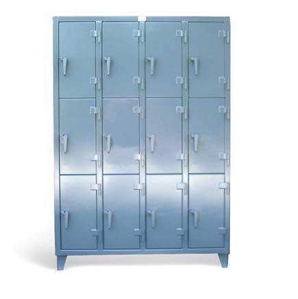 Stronghold industrial locker with 12 compartments