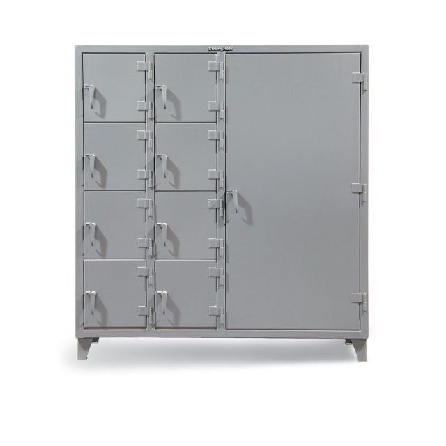 Stronghold industrial locker with 9 compartments