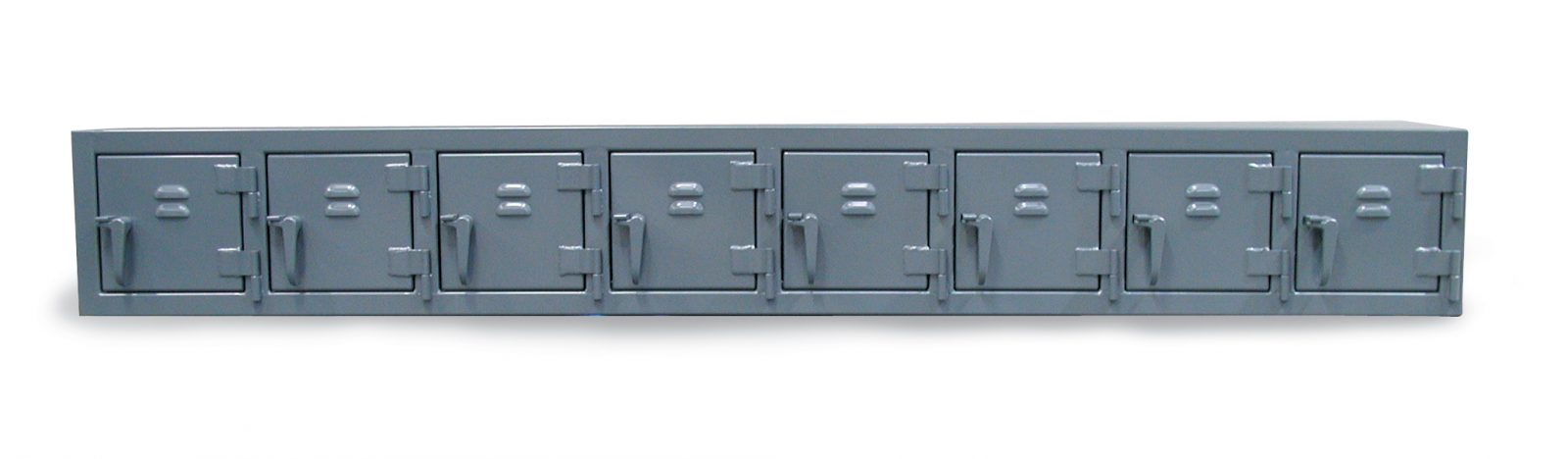 industrial wall locker with 8 compartments