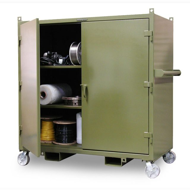 mobile job site cabinet