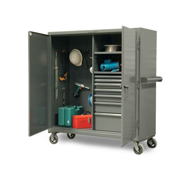 mobile job site cabinet with drawers