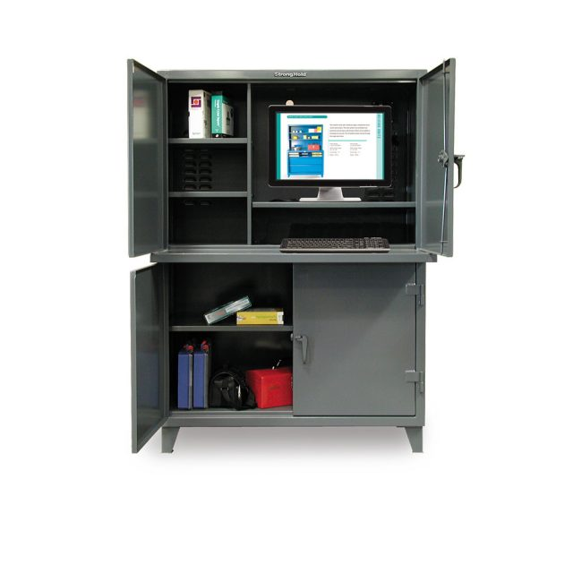 Stronghold multi compartment computer cabinet