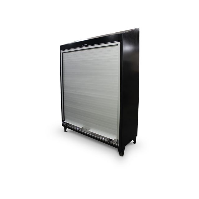 roll up door cabinet with slope top