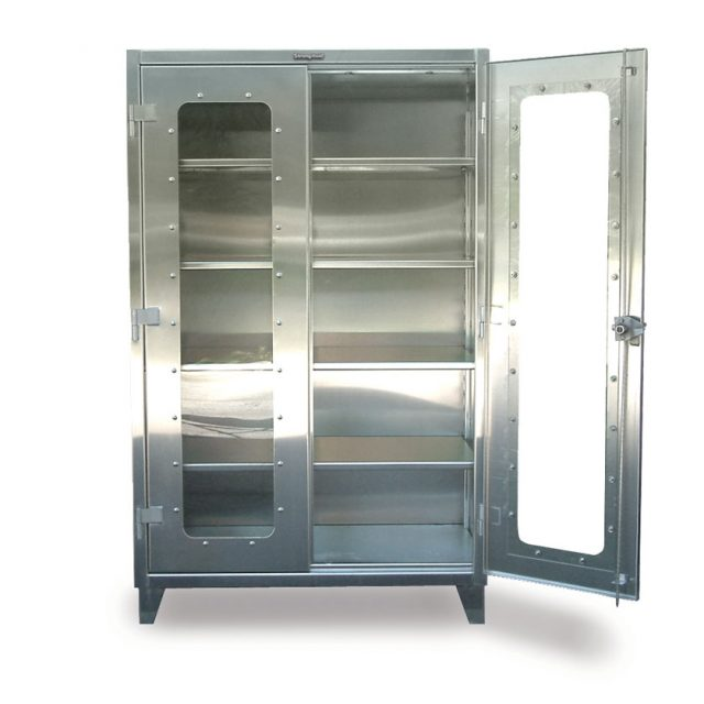 stainless steel clear view cabinet