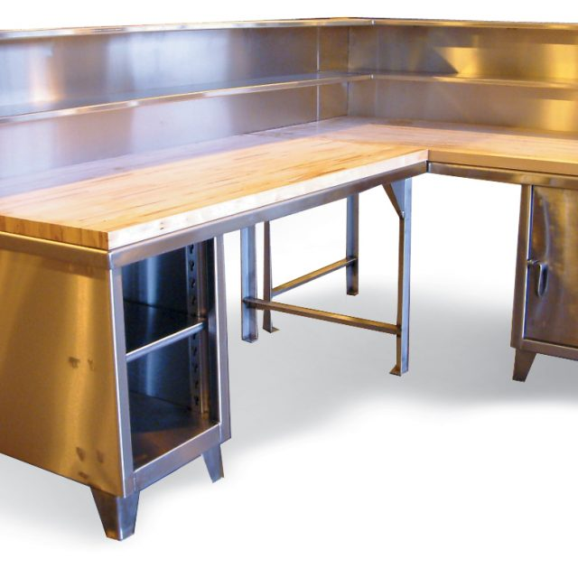 stainless steel corner workstation