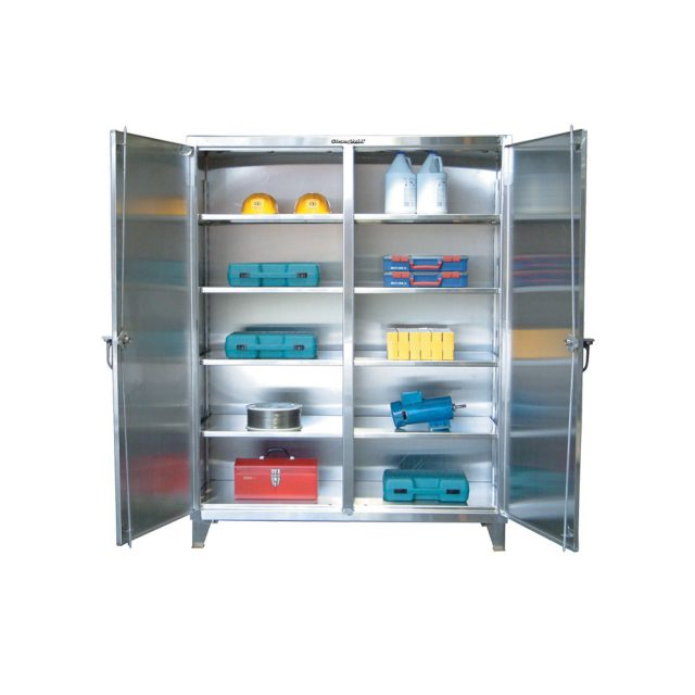 Stronghold stainless steel double shift cabinet