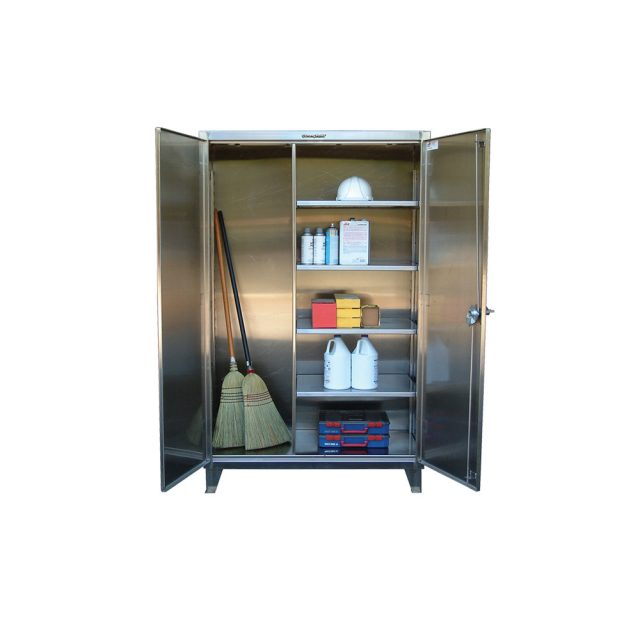 stainless steel janitorial cabinet