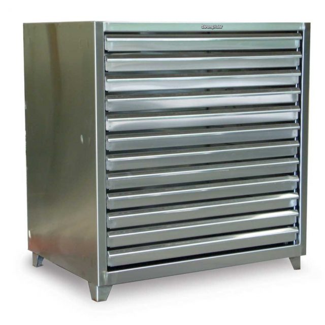 stainless steel print storage cabinet