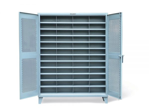 ventilated cabinet with vertical dividers
