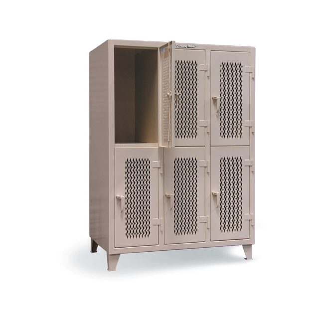ventilated industrial locker