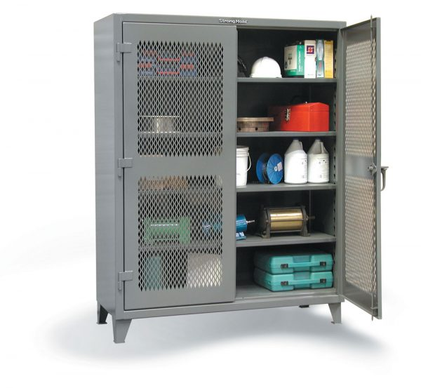 ventilated industrial storage cabinet