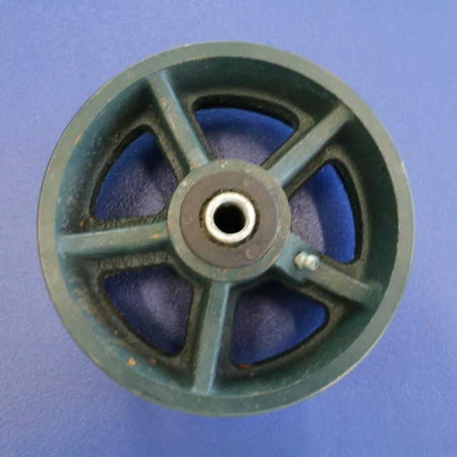 6 inch x 2 1/2 in cast iron wheel
