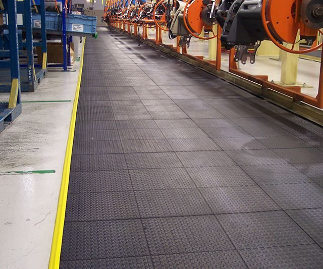 MBoss Matting installed in factory