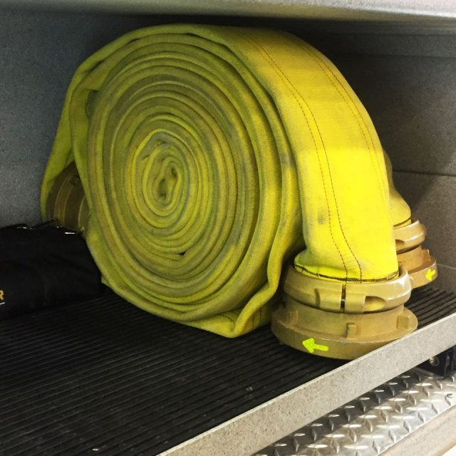 Heromat installed in Fire Engine with Hose