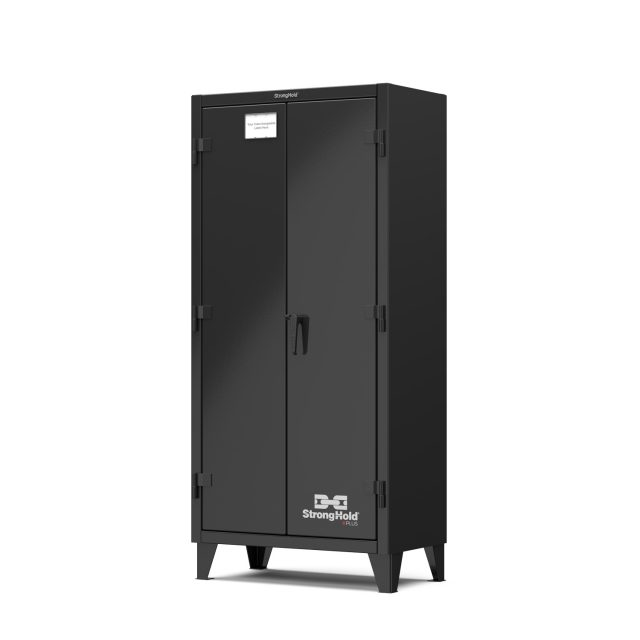 Stronghold Black Industrial Cabinet with Single Shift Solid Doors