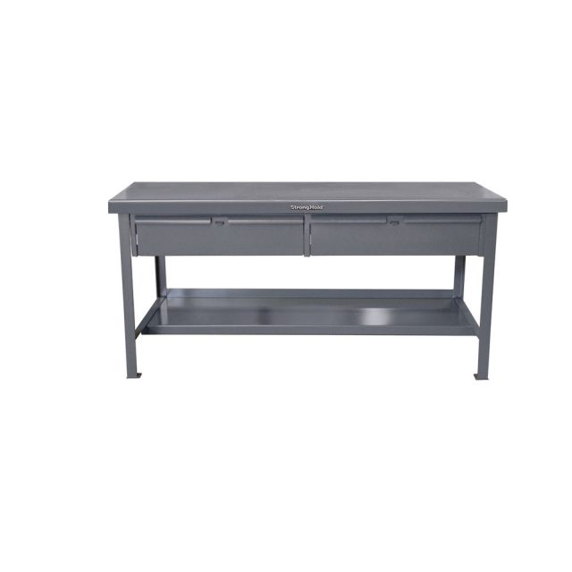 Stronghold Industrial Shop Table with 2 Drawers
