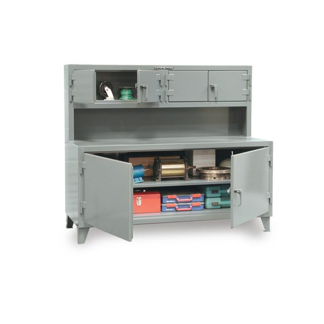 Workbench with 2 compartments