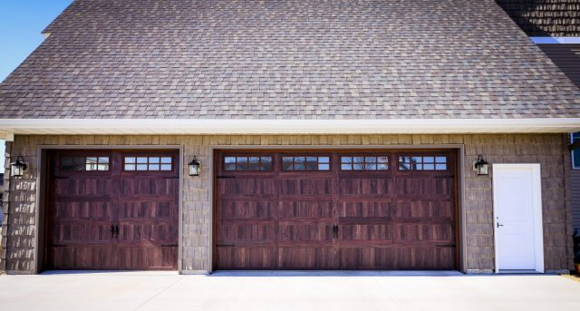 Reddish Brown Garage Door