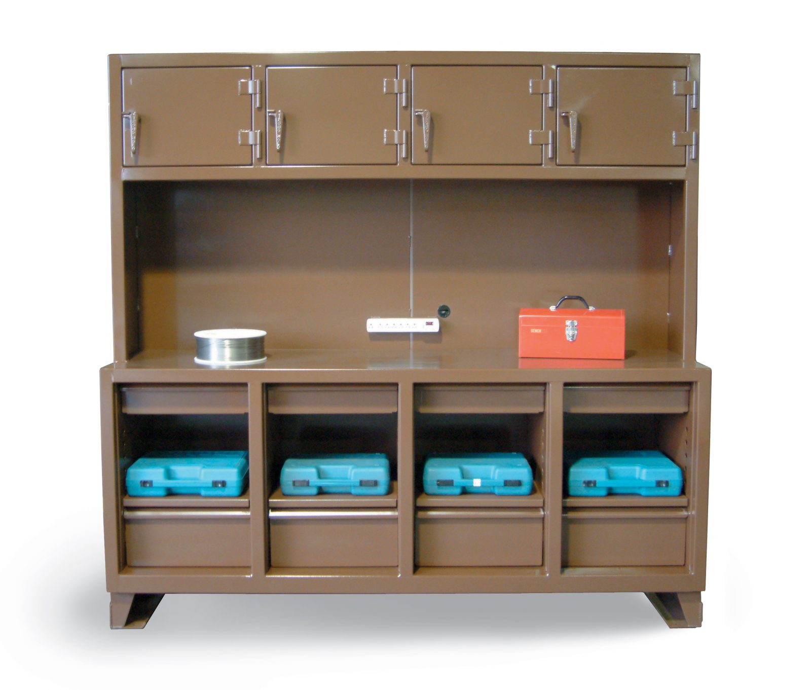 Workbench Storage with 4 Upper Compartments