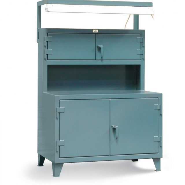 Workbench with Compartments and Light