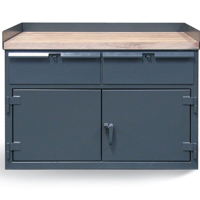 Stronghold workbench with Maple Top and Raised Sides