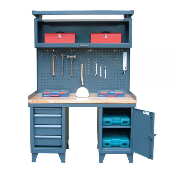 Workbench with Pegboard and Maple Top