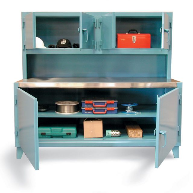 Workbench with Upper Compartment and Stainless Steel Top