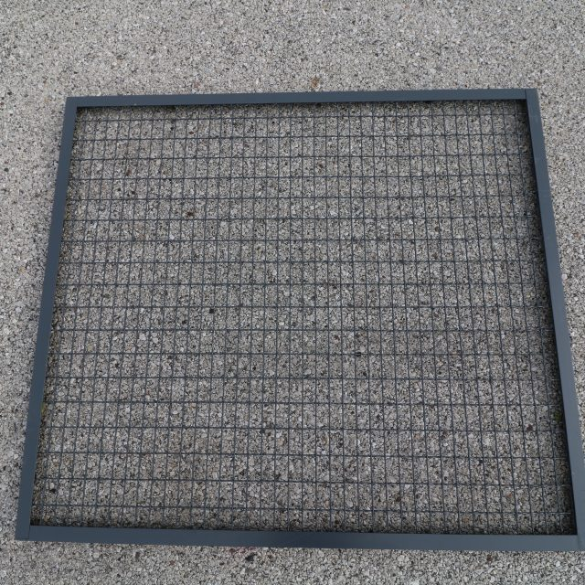 Wire Mesh Paneling Top View