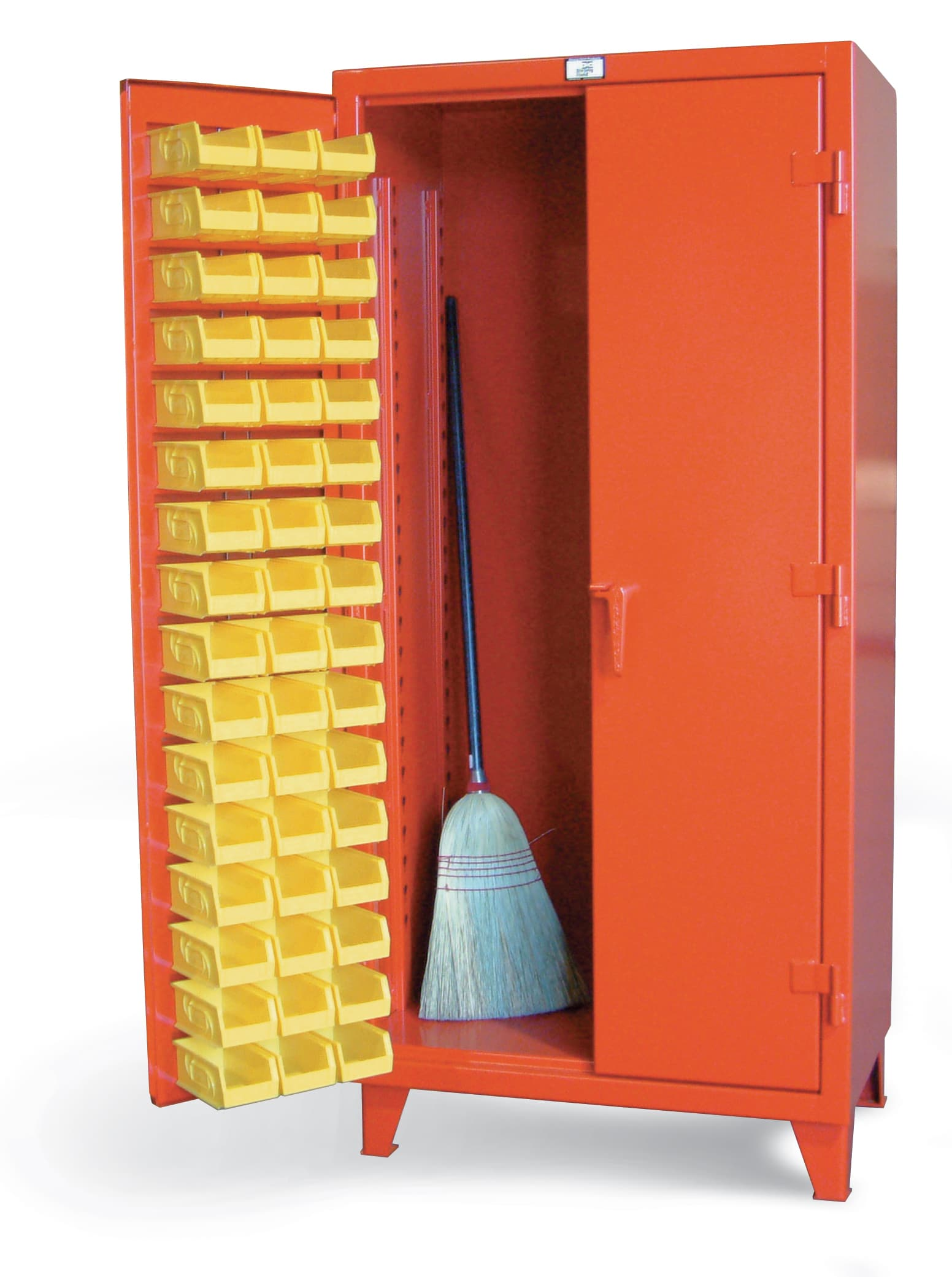Stronghold Bin Cabinet with Bins on Doors