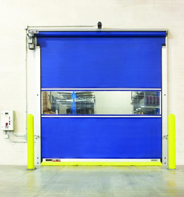 Blue Rytec Roll-Up Door with Motion Sensing