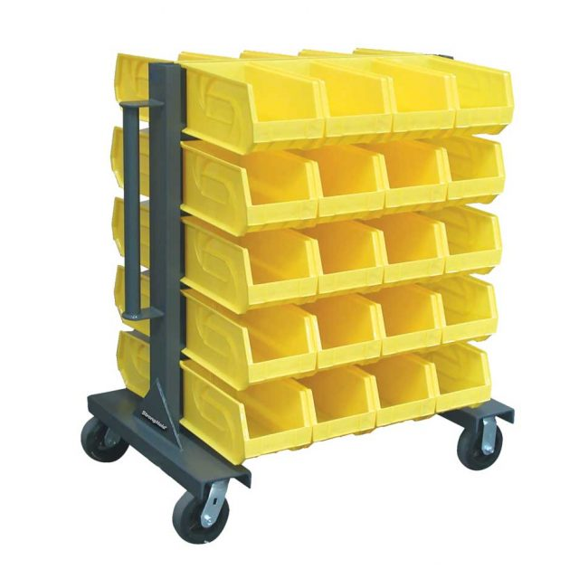 Heavy Duty Mobile Bin Rack